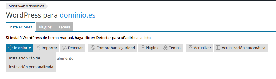 3. Instalación de WordPress