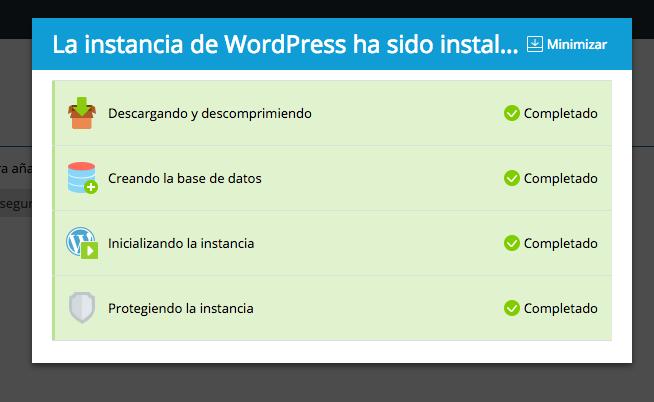 4. Procesos de instalación de WordPress