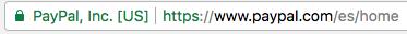 Imagen de barra de direcciones de Google Chrome